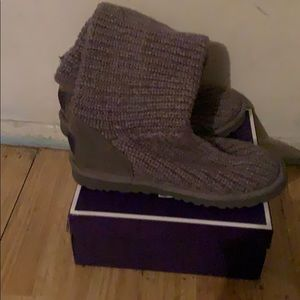 Grey UGG boots that had rarely been worn.